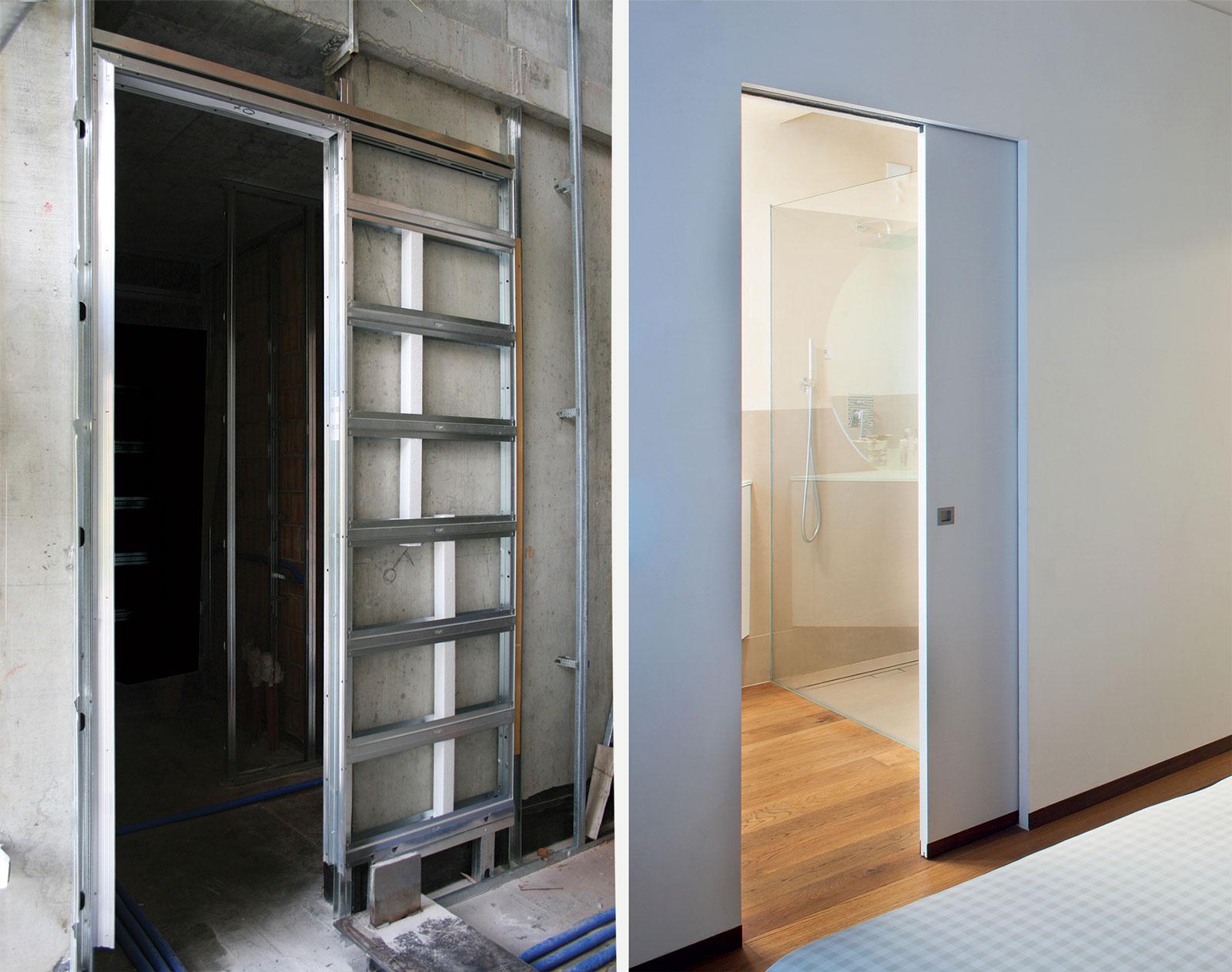 Biasup eclisse esterno per porte scorrevoli with immagini - Porte scorrevoli immagini ...