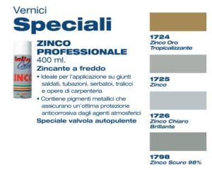 Zinco Professionale Vernice speciale Laki color